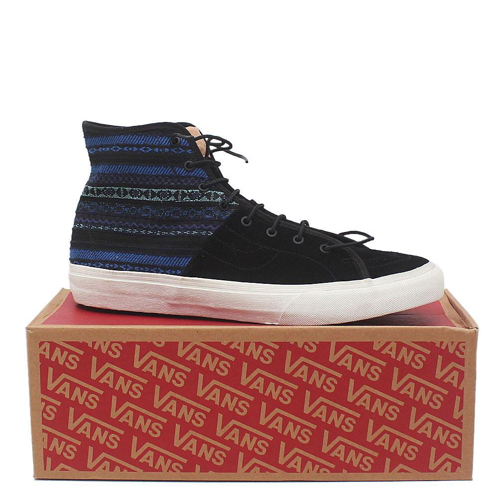 Vans Off the wall Black Suede Leather Men Ankle Sneakers Sz 44.5