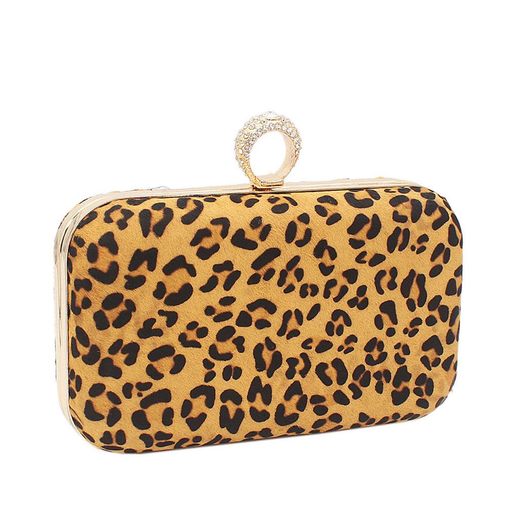 Faux Small Animal Skin Clutch Purse