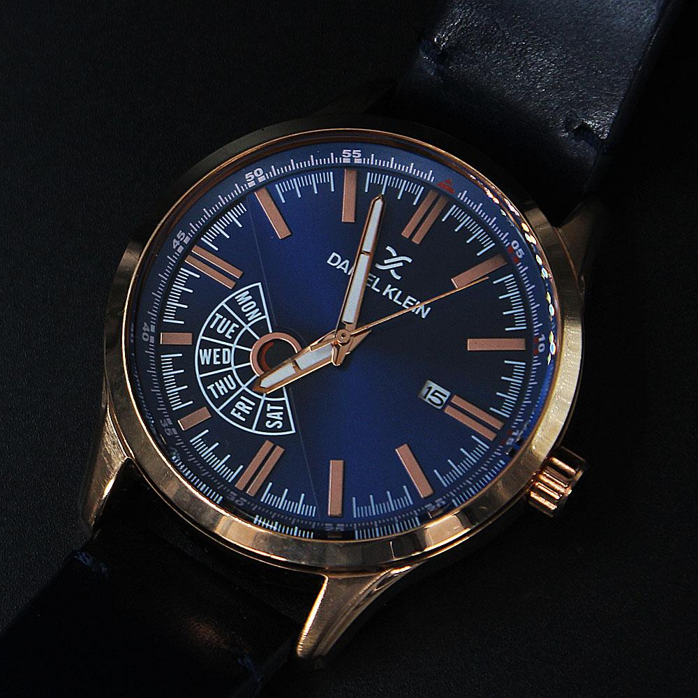 Javier Rose Gold Navy Leather Fashion SeriesWatch