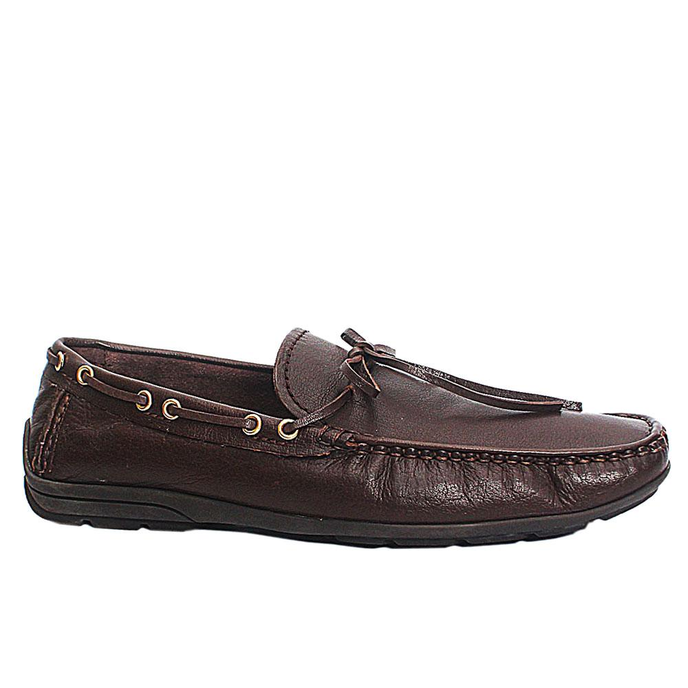 Coffee Leather Drivers Shoes