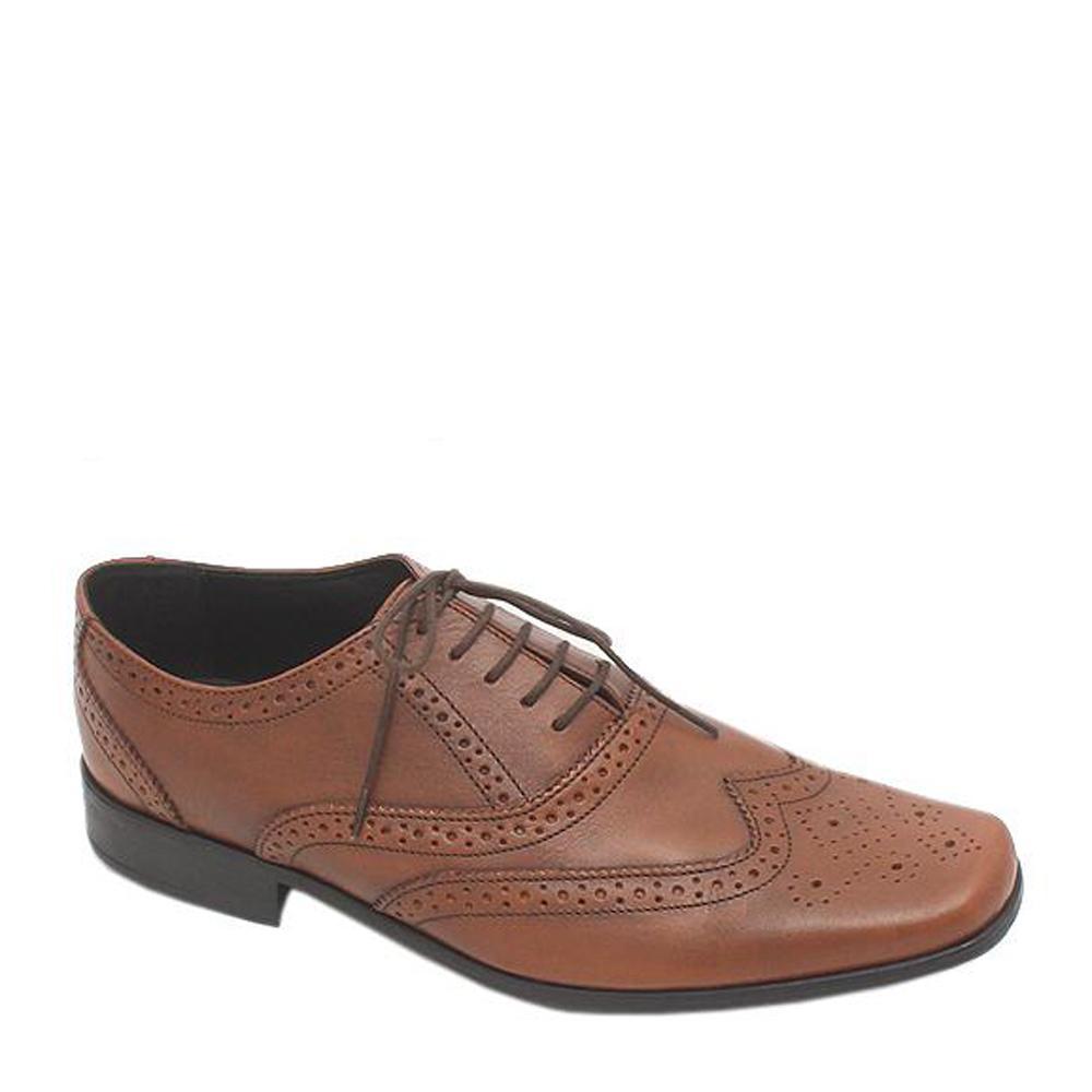 M & S Collection Brown Lace-Up Leather Men Shoe Sz 43