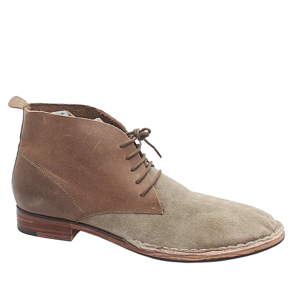 Brown Gray Suede Leather Ankle Men Boot