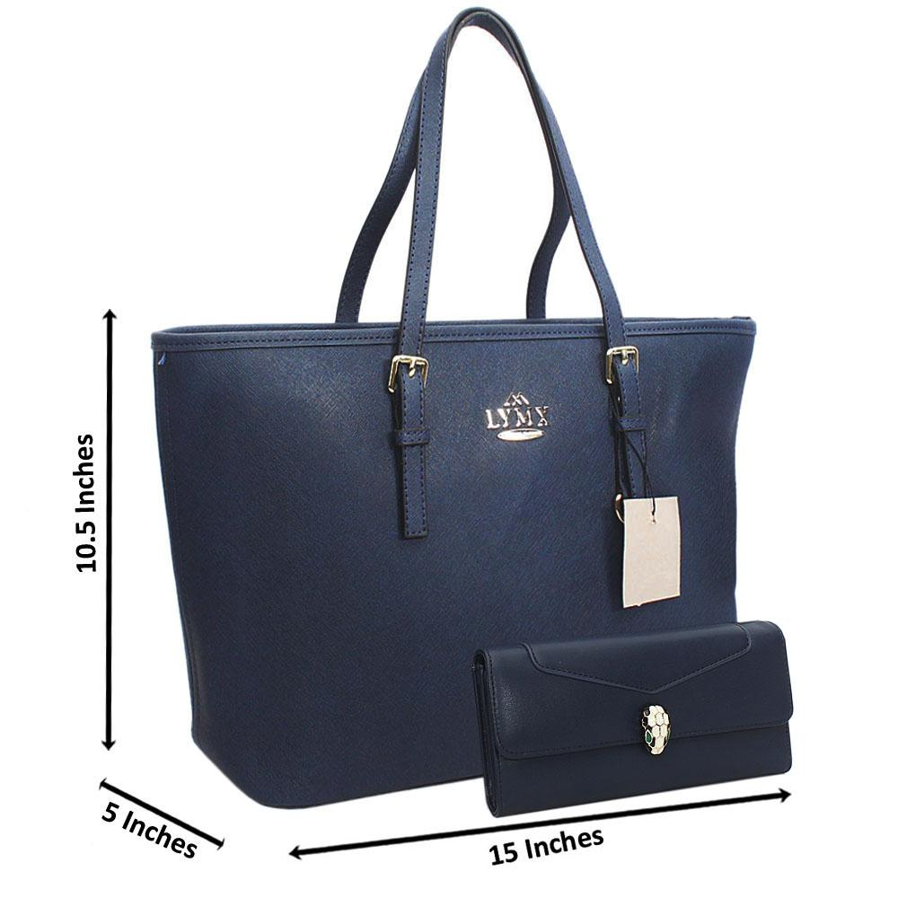 Berry Blue Median Jet Set Shoulder Handbag Wt Free Purse