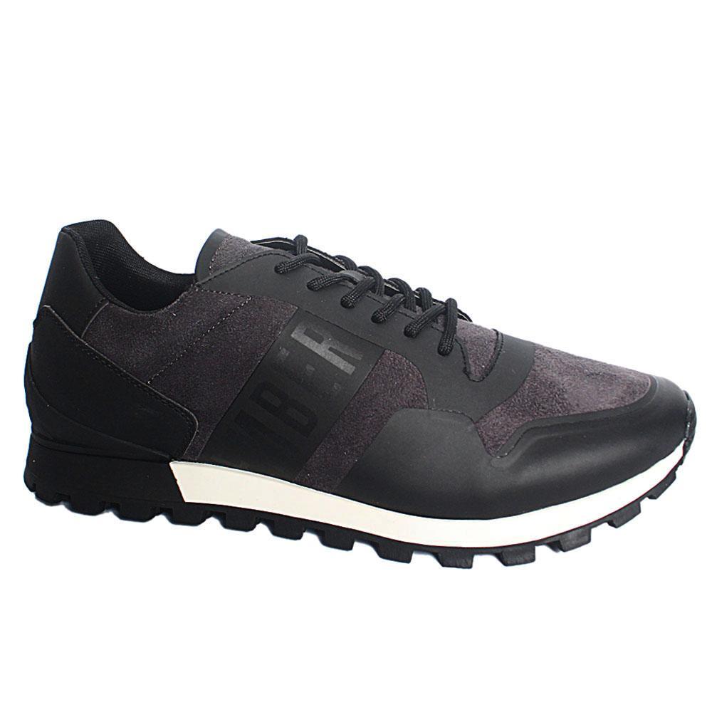 Black-Fender-Suede-Leather-Sneakers