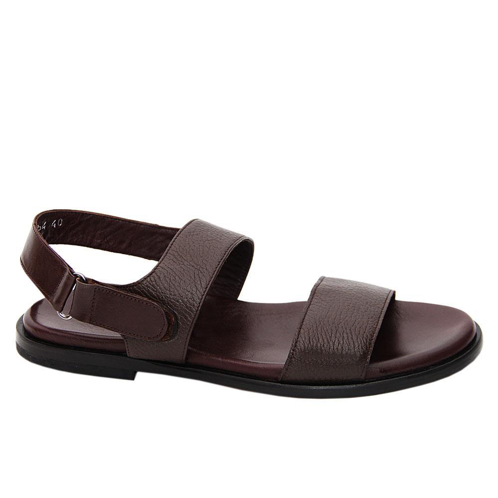 Coffee Enzo Piero Italian Leather Sandals