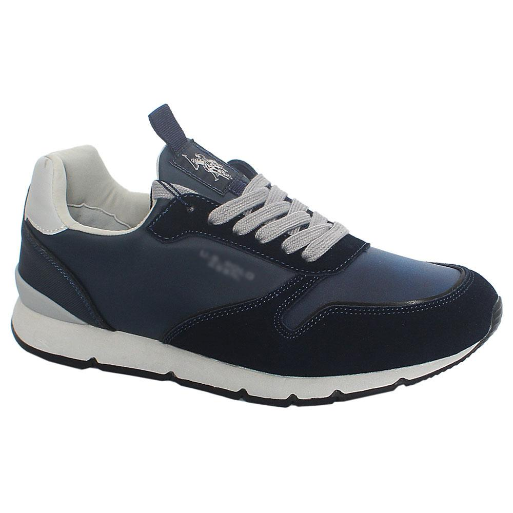 Navy-Gray-Bolt-Club-Suede-Leather-Sneakers