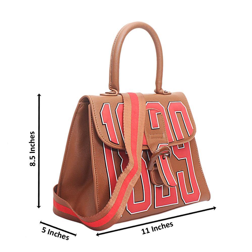 1829 Brown Leather Handbag