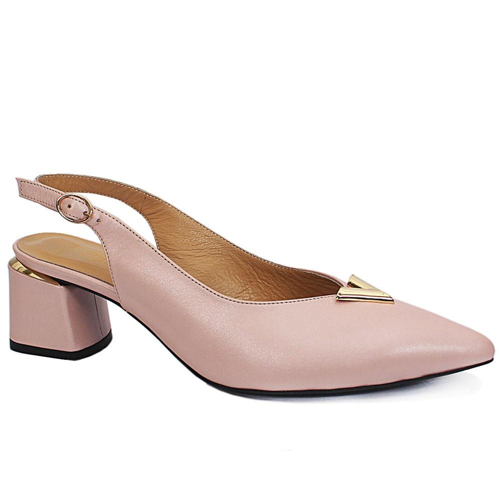 Pink Cipria Leather Slingback Shoe