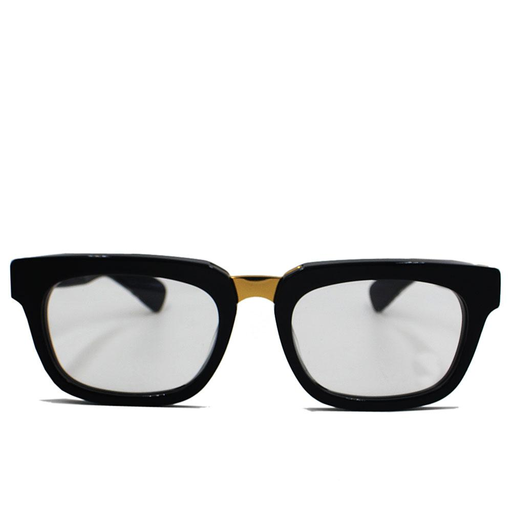 Gold Black Straight FNarrow Fit Eyeglasse