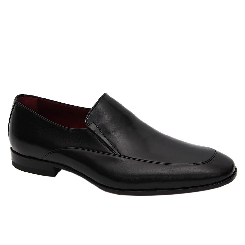 Black Massimo Italian Leather Loafers