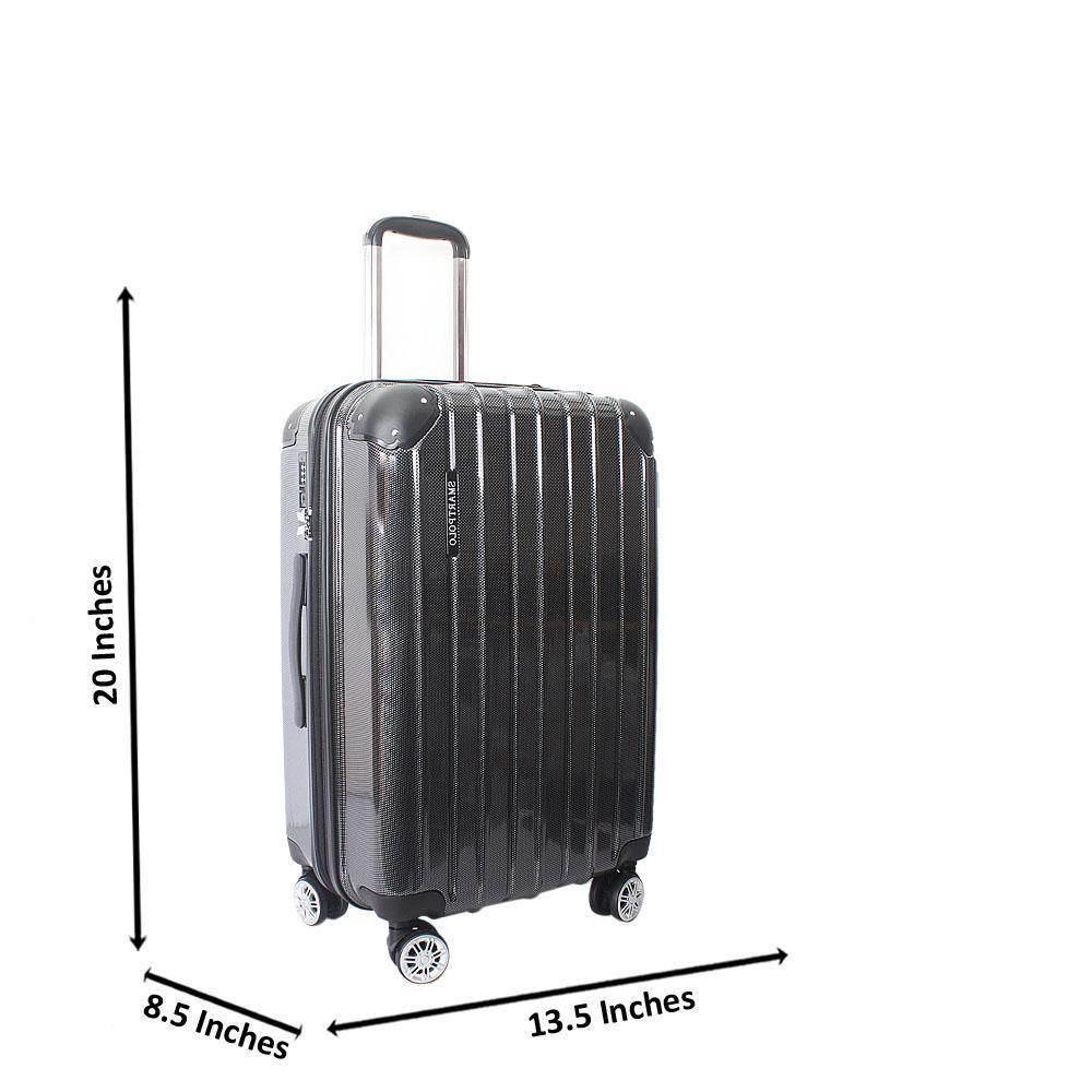Black 20 Inch Hardshell Carry On Luggage Wt TSA Lock