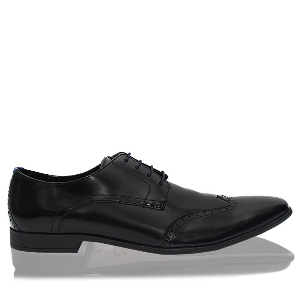 Black Kirkby Leather Men Derby Shoes