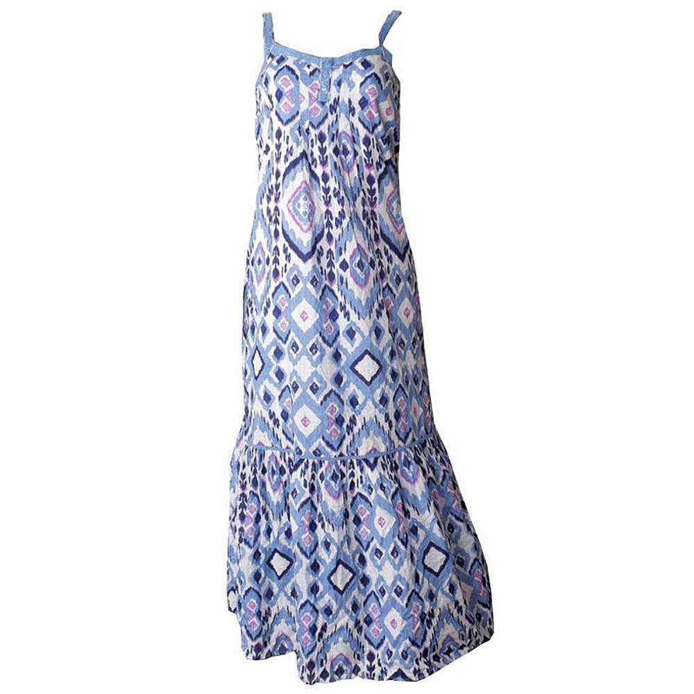 Blue-Black-Pink Ladies Dress-UK 8