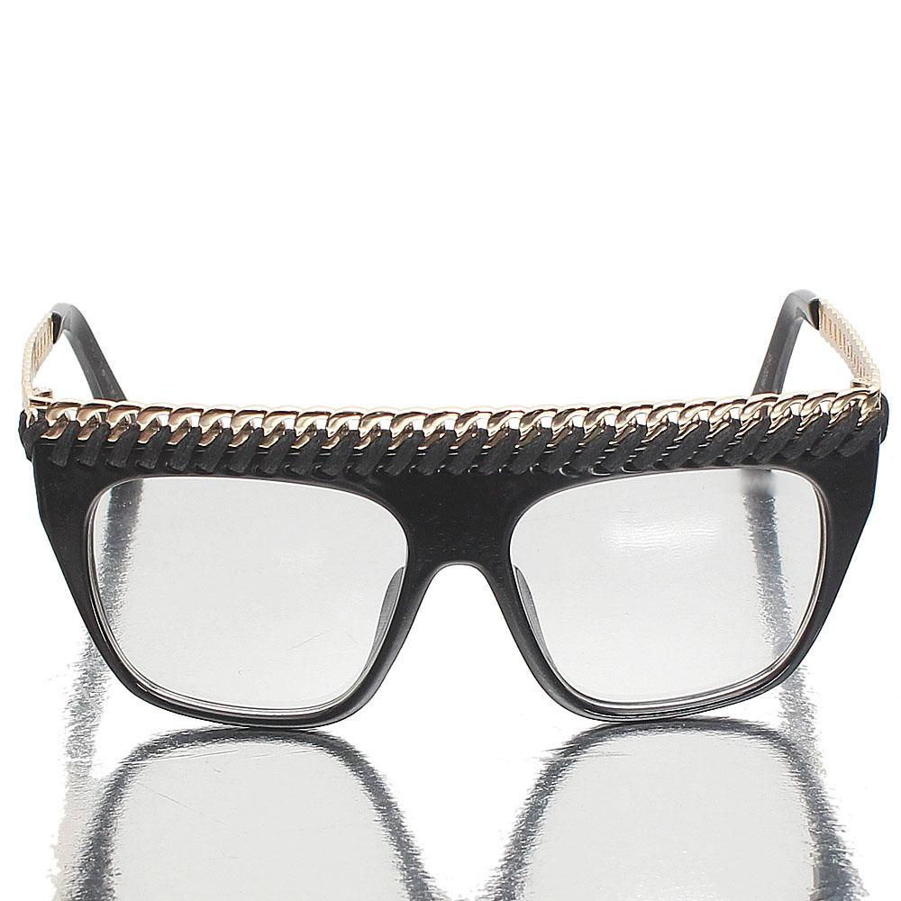 Gold Black Shield Clear Lens Sunglasses