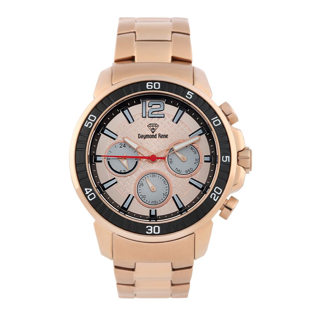Rose Gold Stainless Steel Chronograph Watch