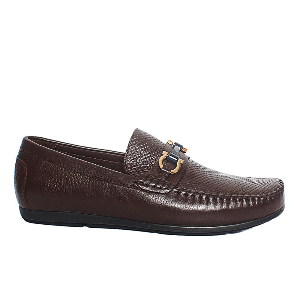 Coffee Cardinale Italian Leather Drivers Shoes
