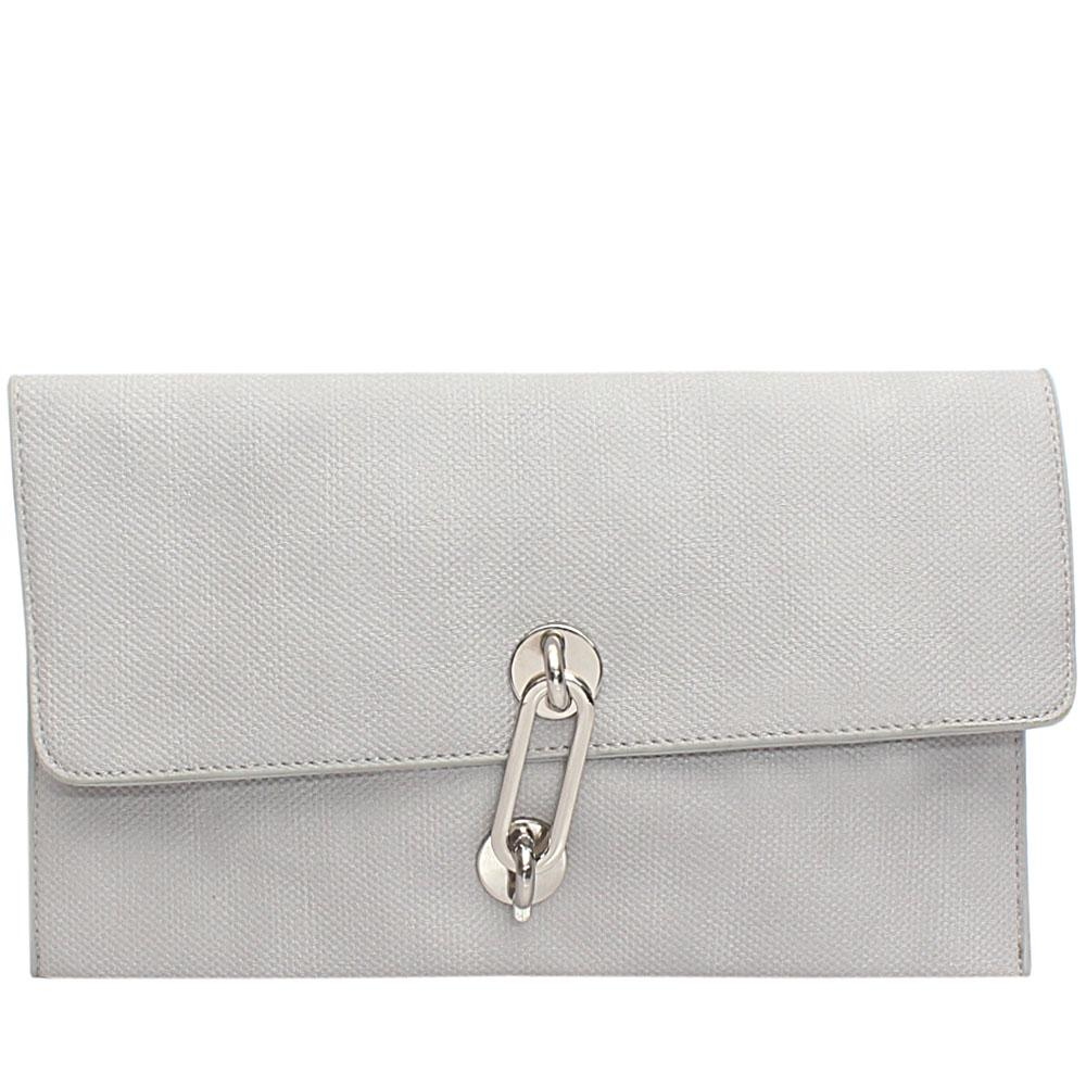 Grey Acacio Leather Flat Purse