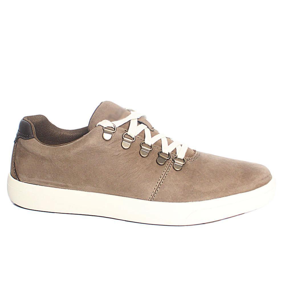 Khaki Ashwood Park Leather Sneakers