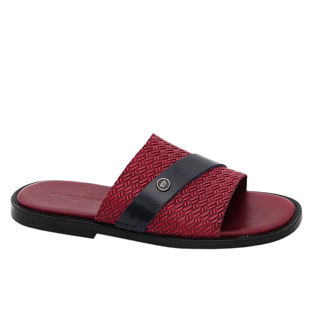 Burgundy Juan Sebastian Italian Leather Slippers