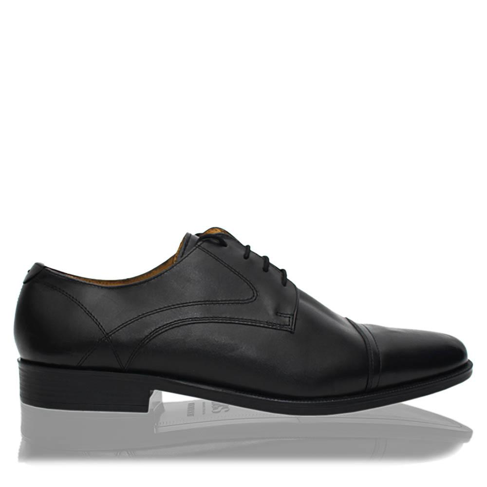Black Luxury Leather Men Derby Shoes