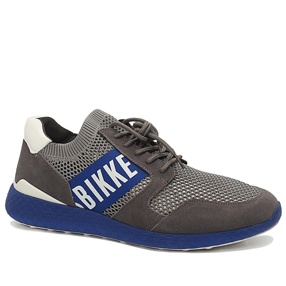 Bergs Gray Striker Suede Leather Breathable Sneakers
