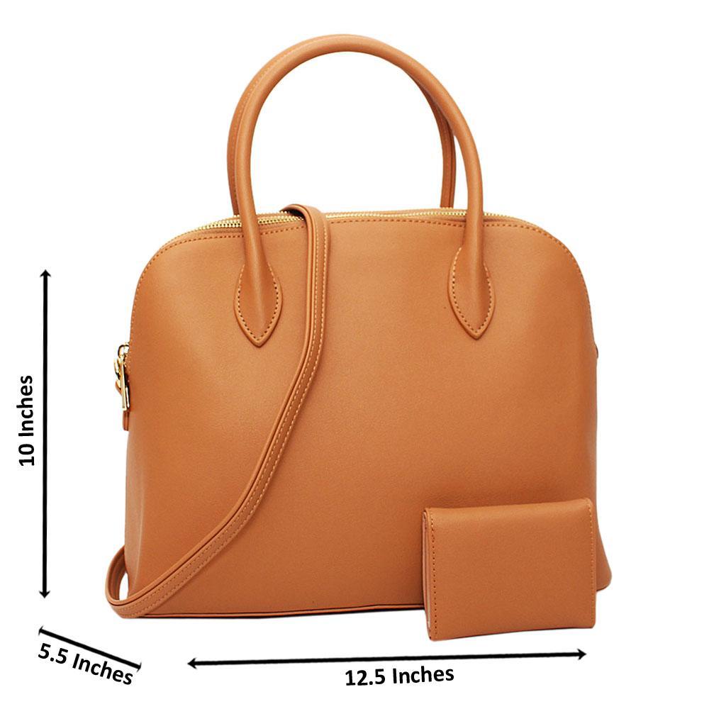 Beige Nancy Nell Leather Medium Tote Handbag