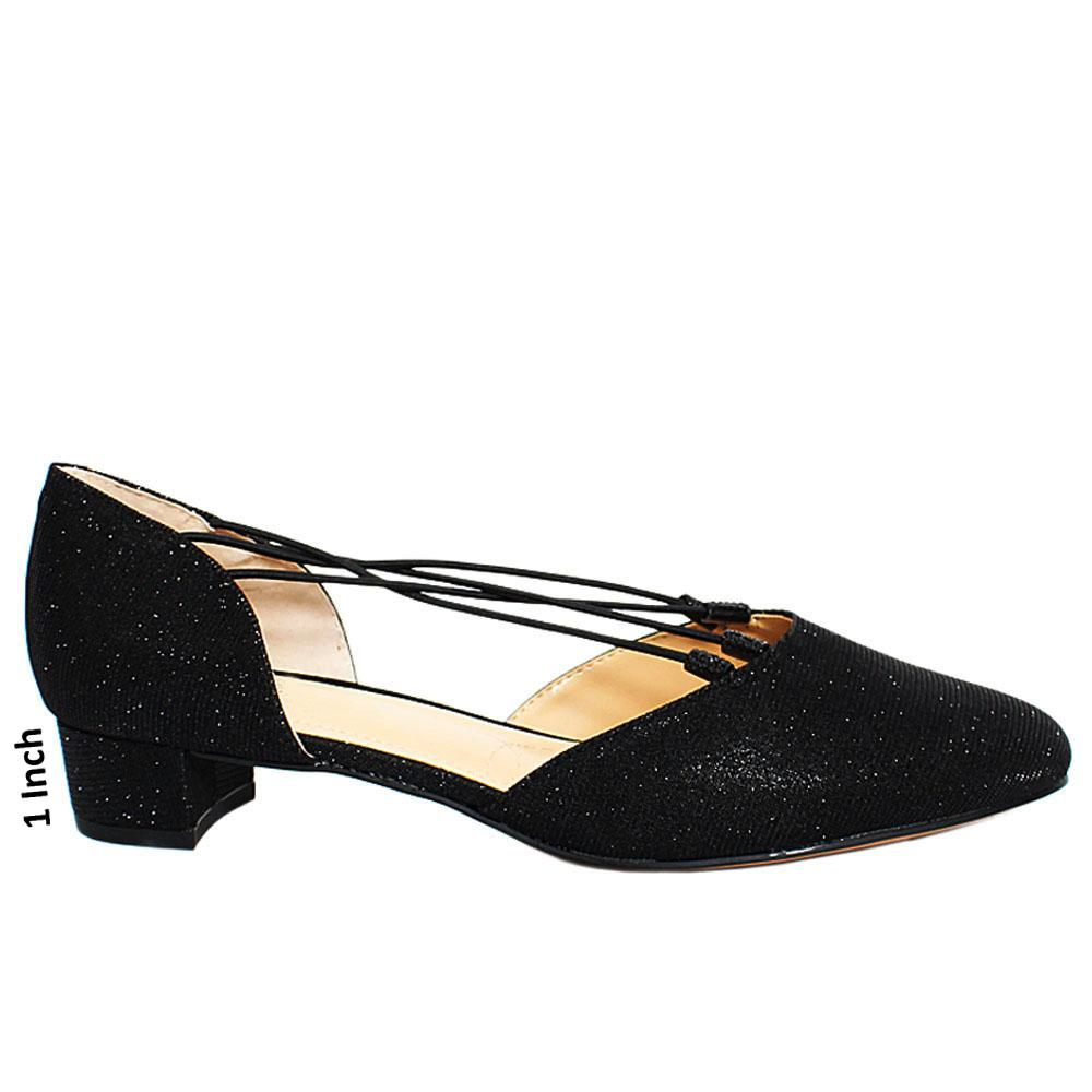 Black-Rockymid-Glitter-Fabric-Leather-Low-Heel