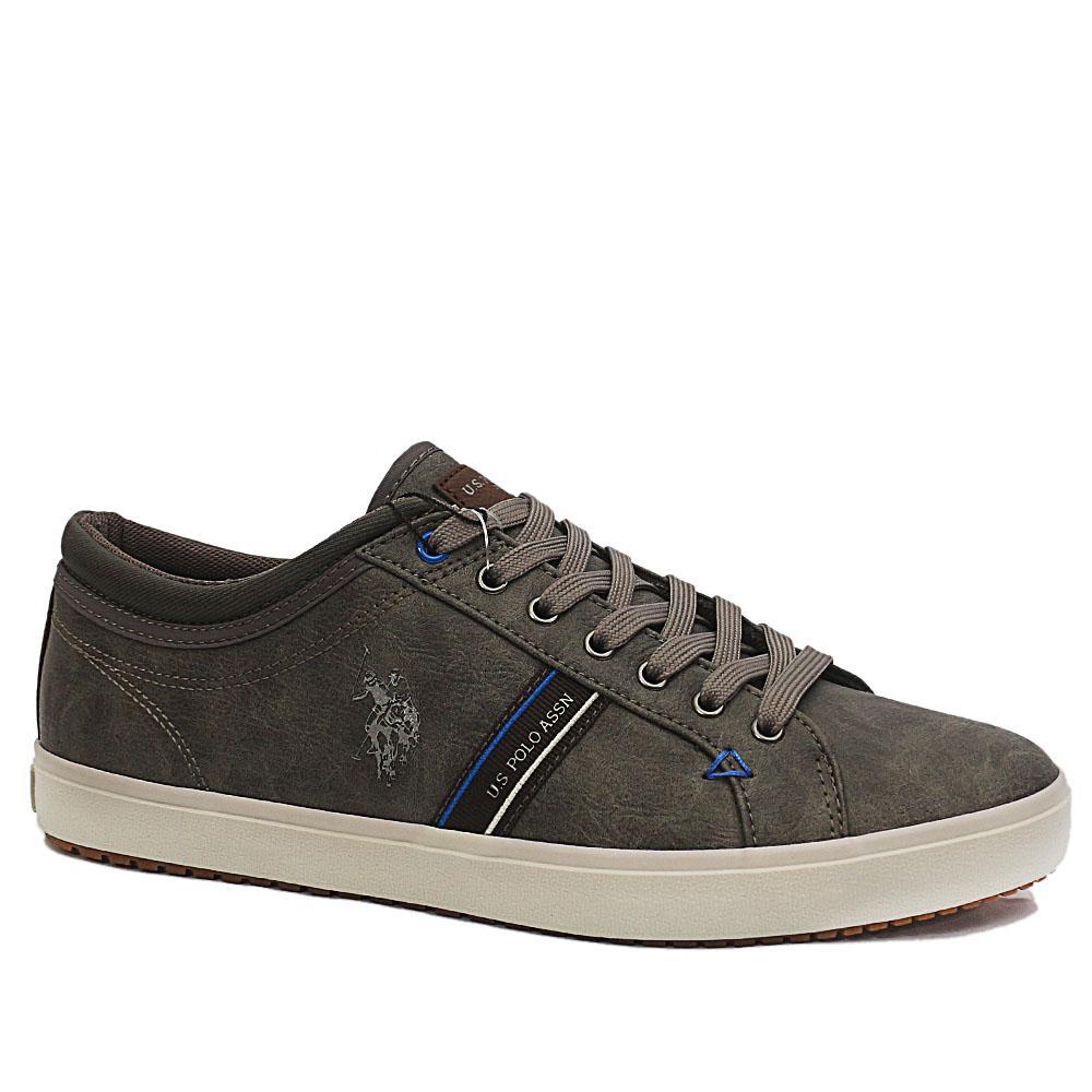 Sz 44 USSPA Gray Wey Leather Sneakers