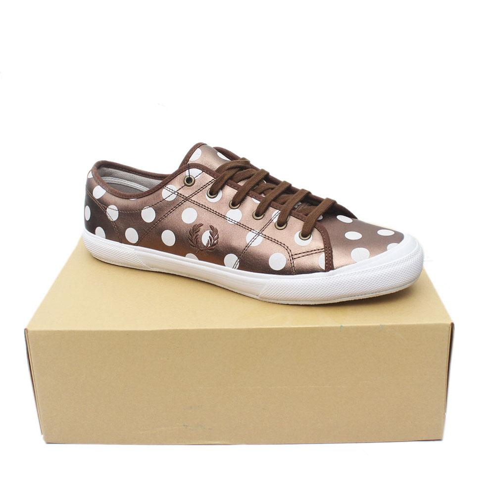 Fred Perry Bronze White Lace Up Men Sneakers Sz 47