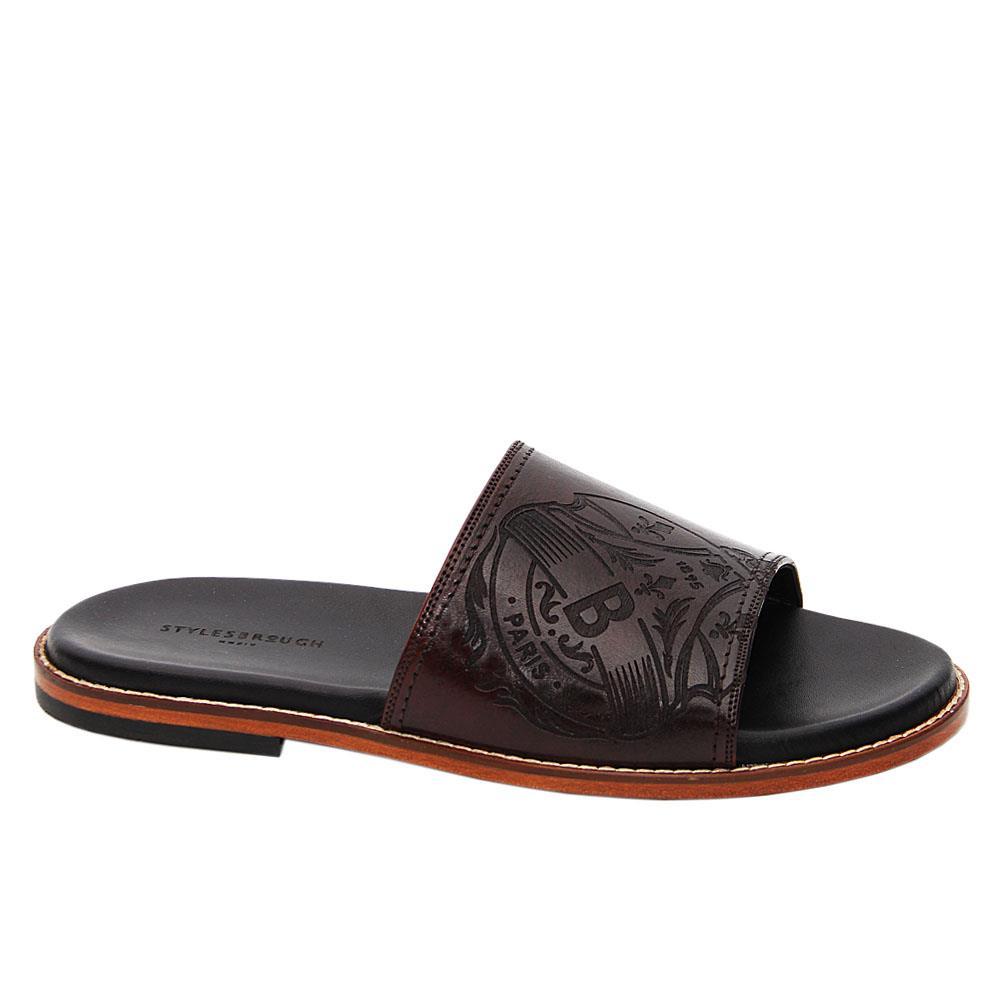 Dark Coffee Juan Manuel Italian Leather Slippers
