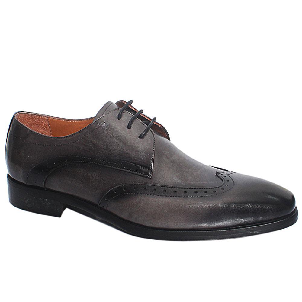 Gray Herran Italian Leather Men Oxford