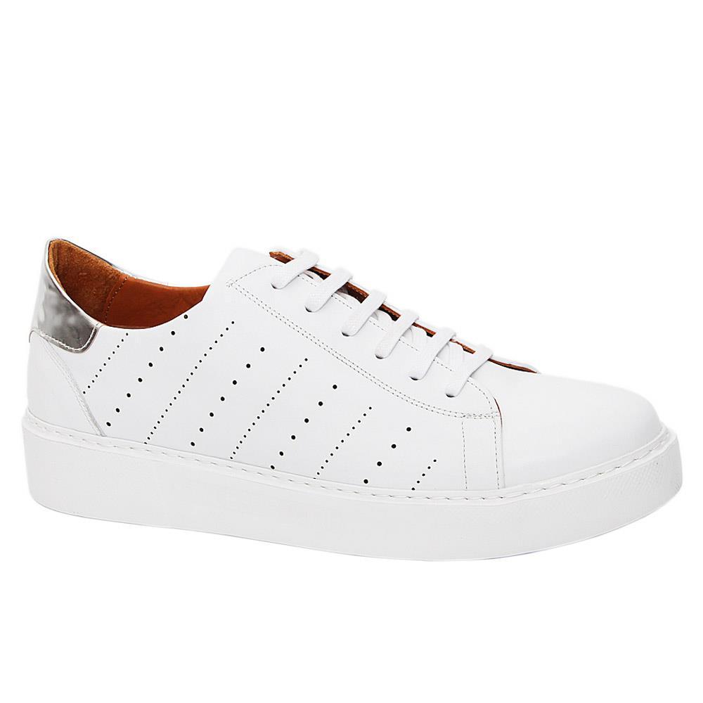 White Morgan Henderson Italian Leather Sneakers