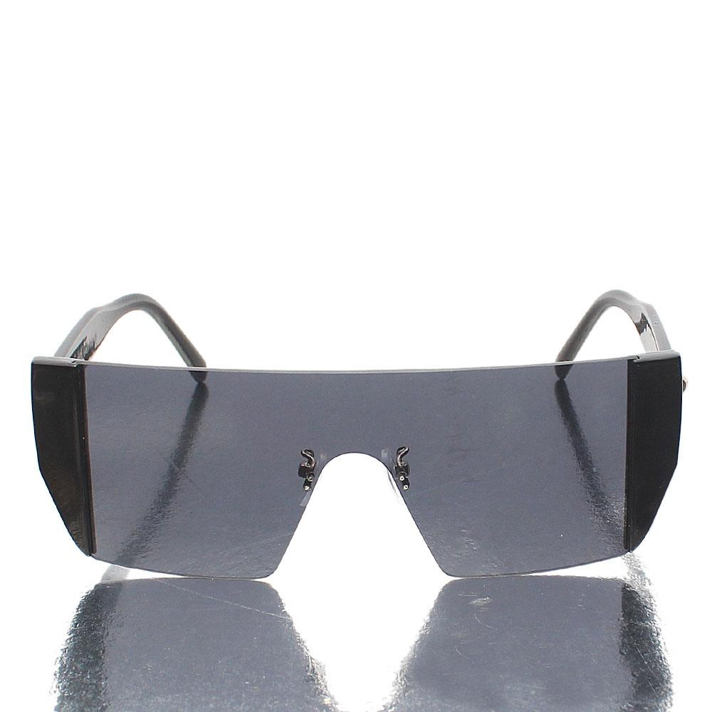 Black Shield Polarized Sunglasses
