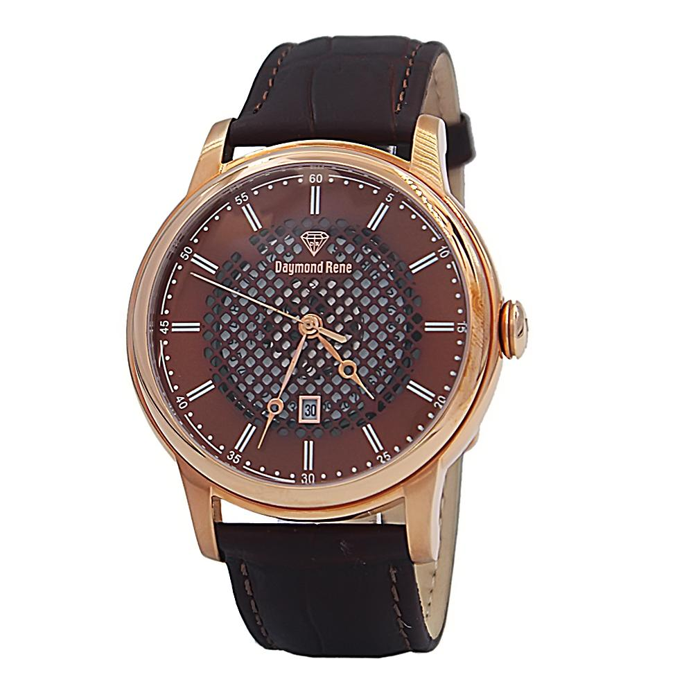 DR 5ATM Coffee Rose Gold Leather Watch