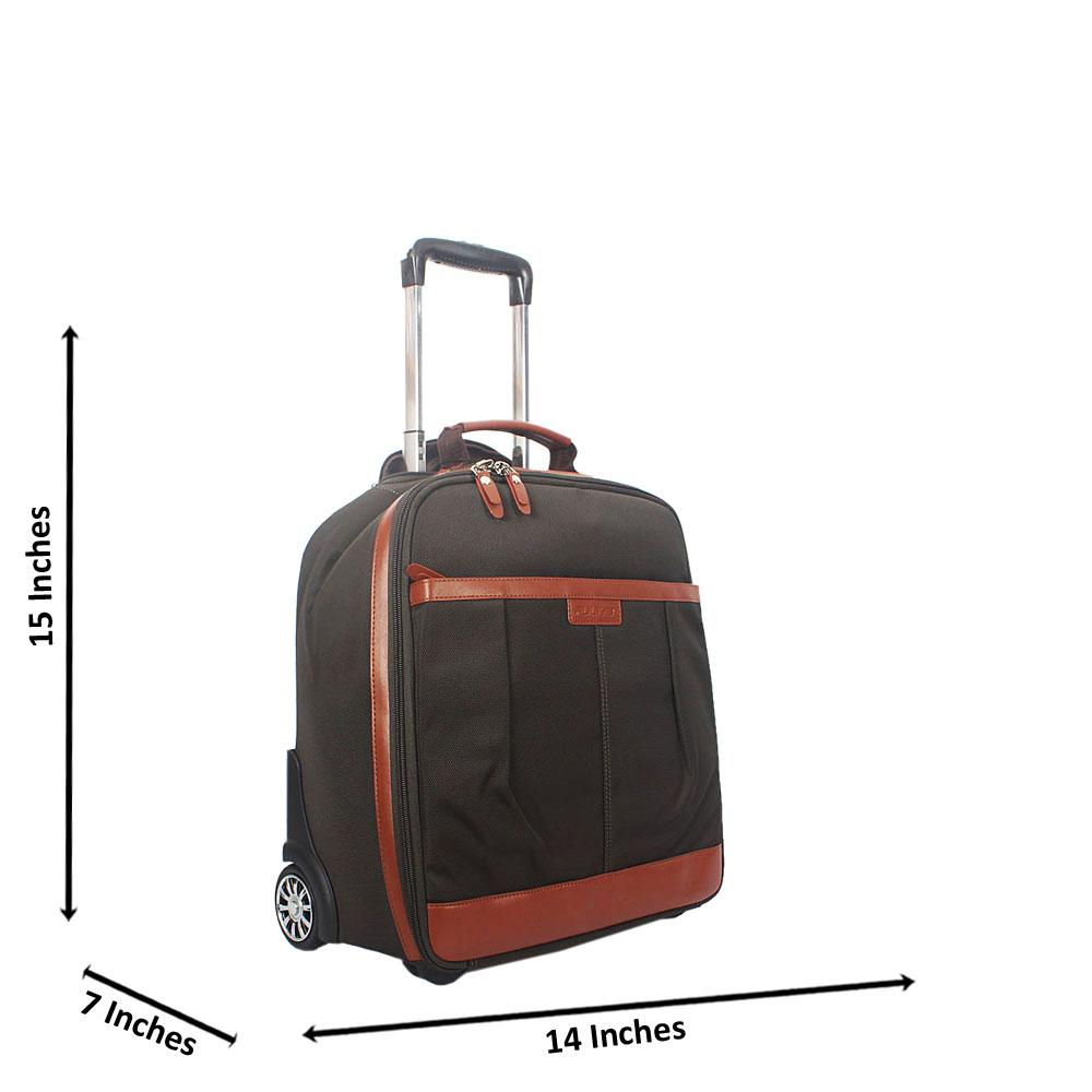 Dark Army Green 15 Inch Cordura Fabric Carry On Hand Luggage