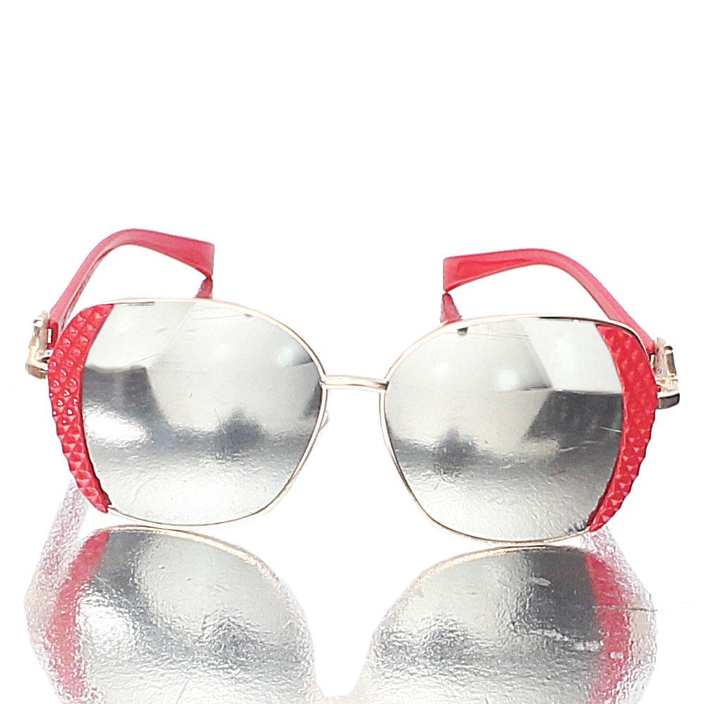 Red Ivanna Mirror Lens Sunglasses