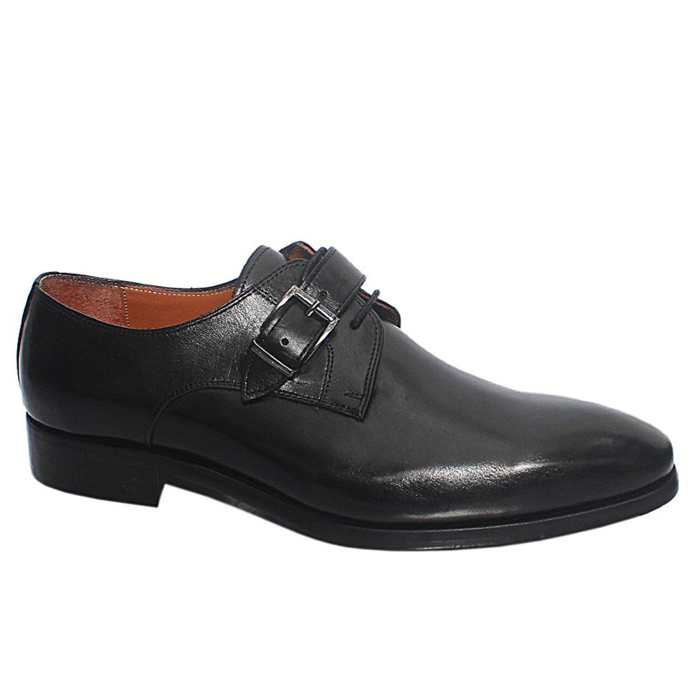 Black Enrique Italian Leather Men Oxford