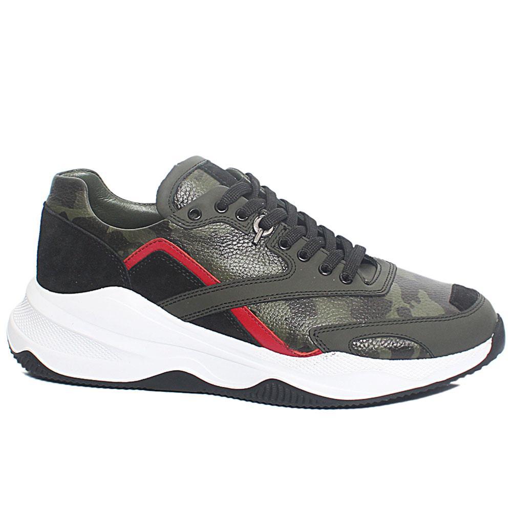Desert Camo Leather Sneakers