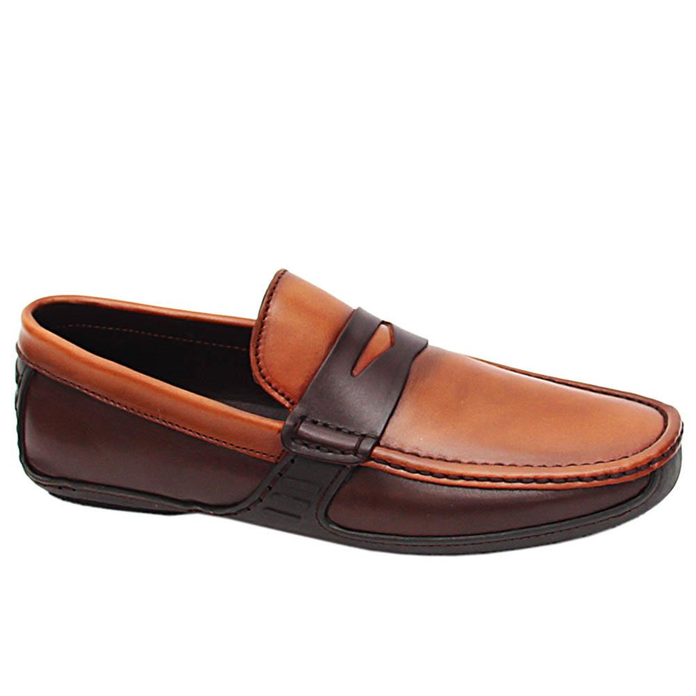 Brown Gabriele Italian Men Drivers Shoe