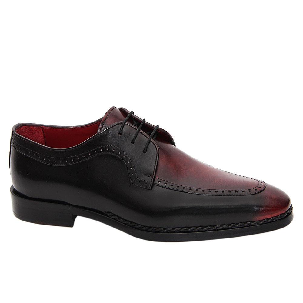 Wine Black Ridolfo Italian Leather Derby Shoe