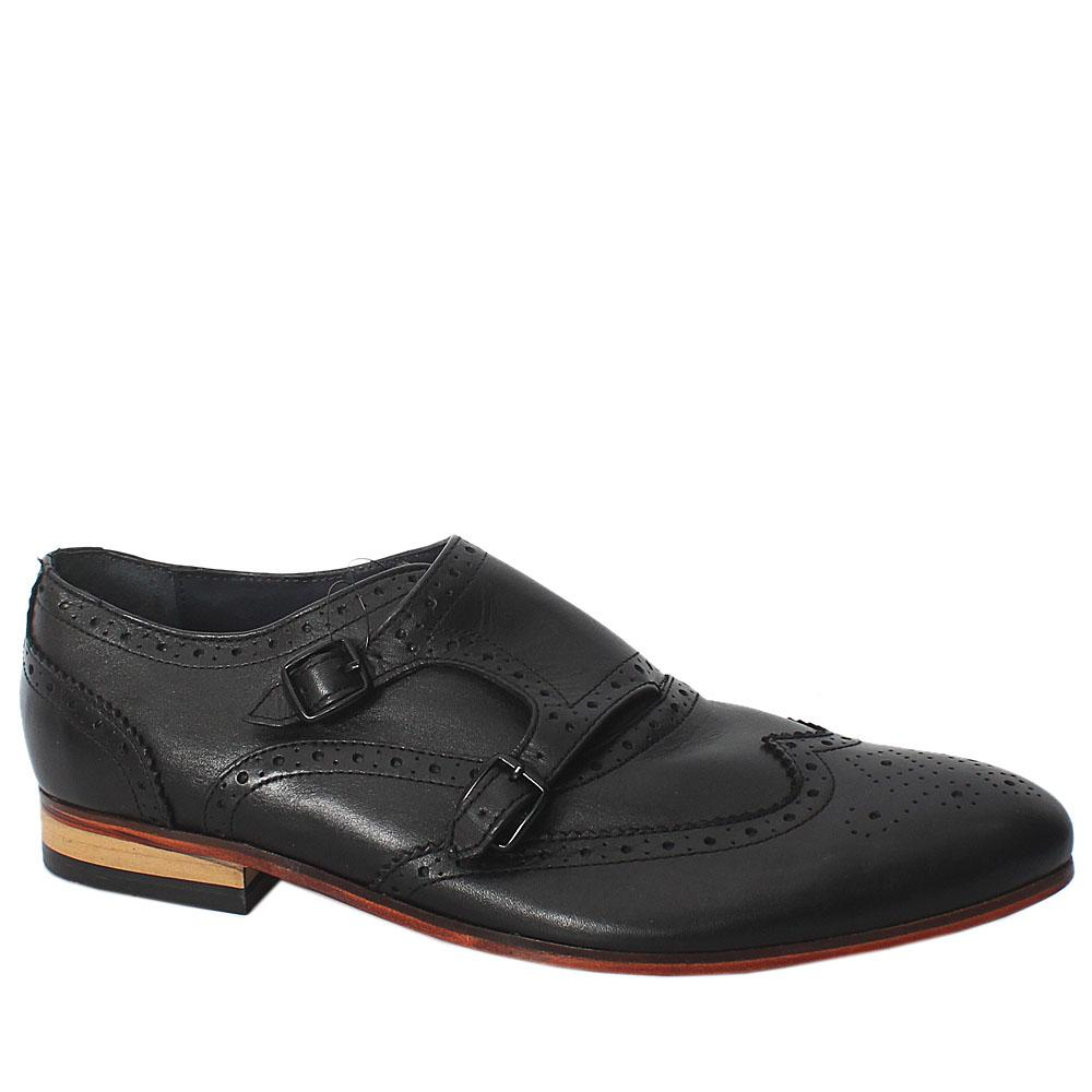 M & S Autograph Black Leather Men Brogues Sz 43