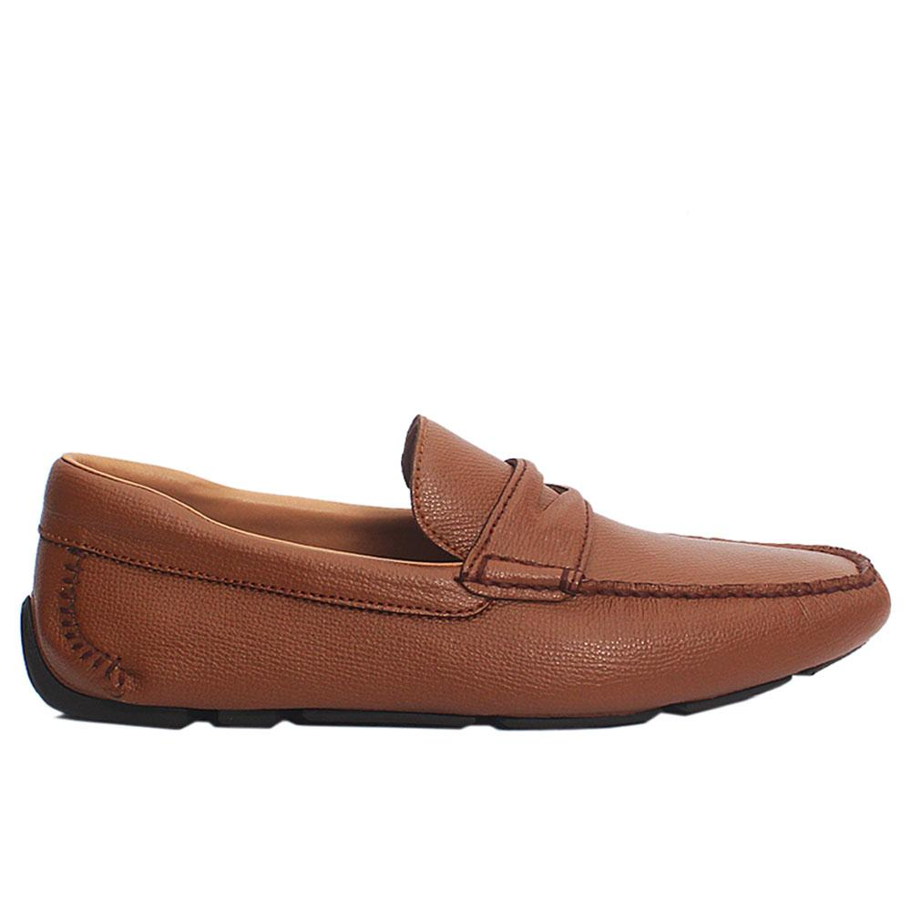Brown Francesco Italian Leather Drivers Shoes