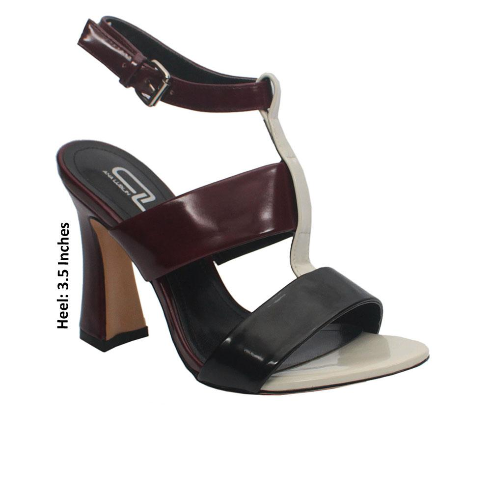 Wine Black Leather Heels