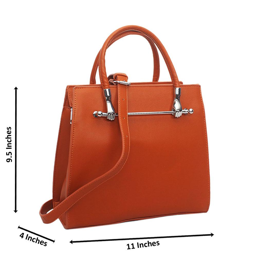 Brown Ella Small Leather Tote Handbag