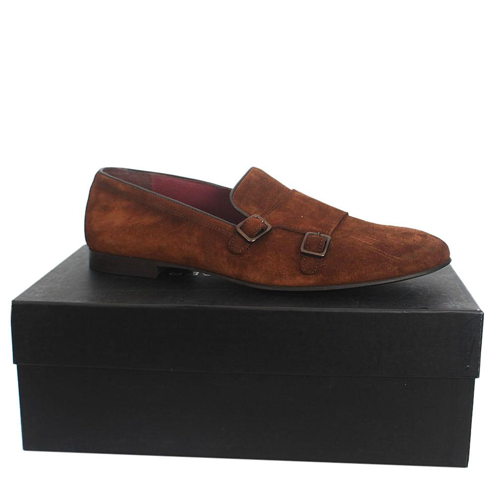 AlbuBrown Suede Leather Men Shoes