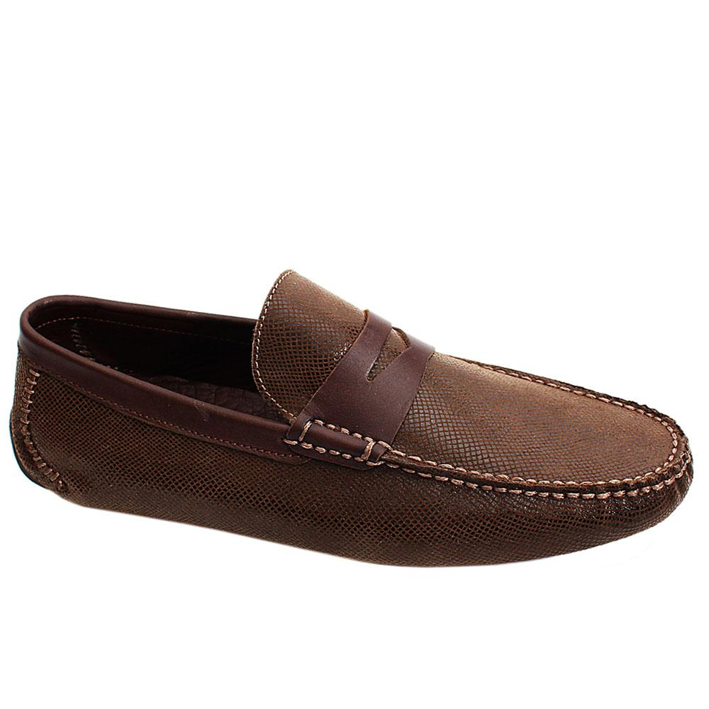 Coffee Brown Milano Italian Leather Men Drivers Shoe
