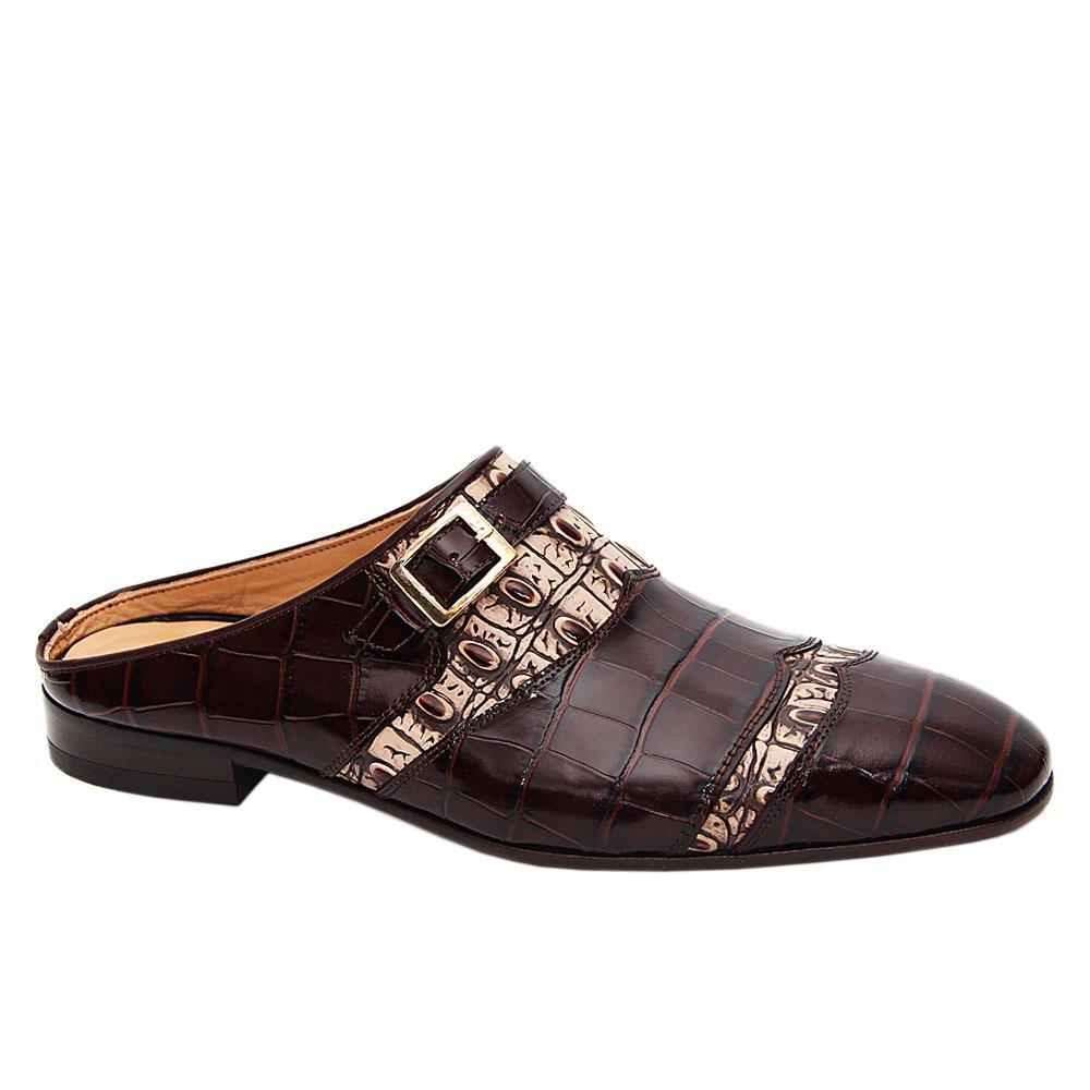Coffee Mattia Italian Leather Half Shoe