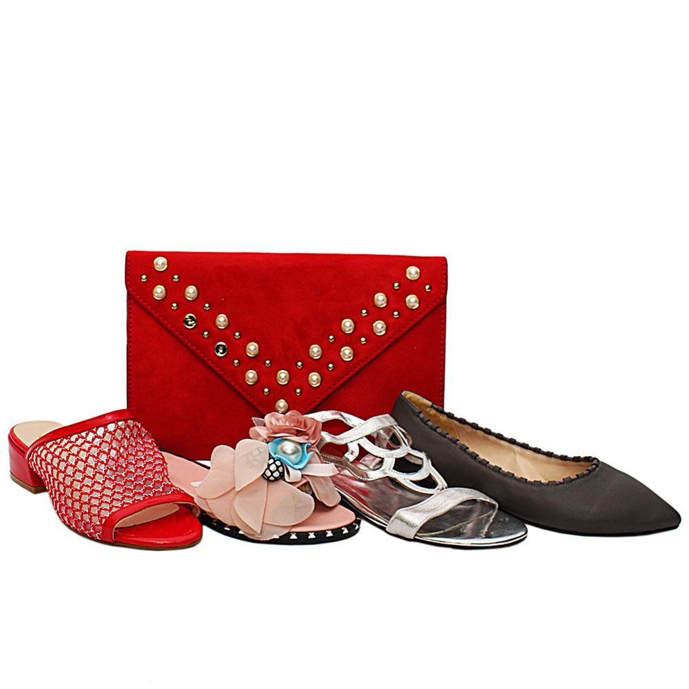Size 36 Ruby Shoe and Bag Bundle