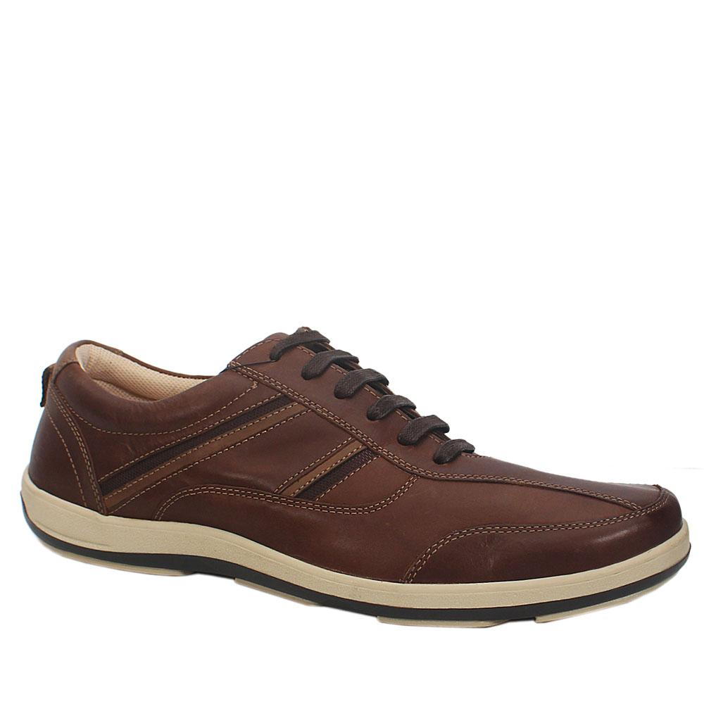M & S Airflex Coffee Leather Total Comfort Men Sneaker