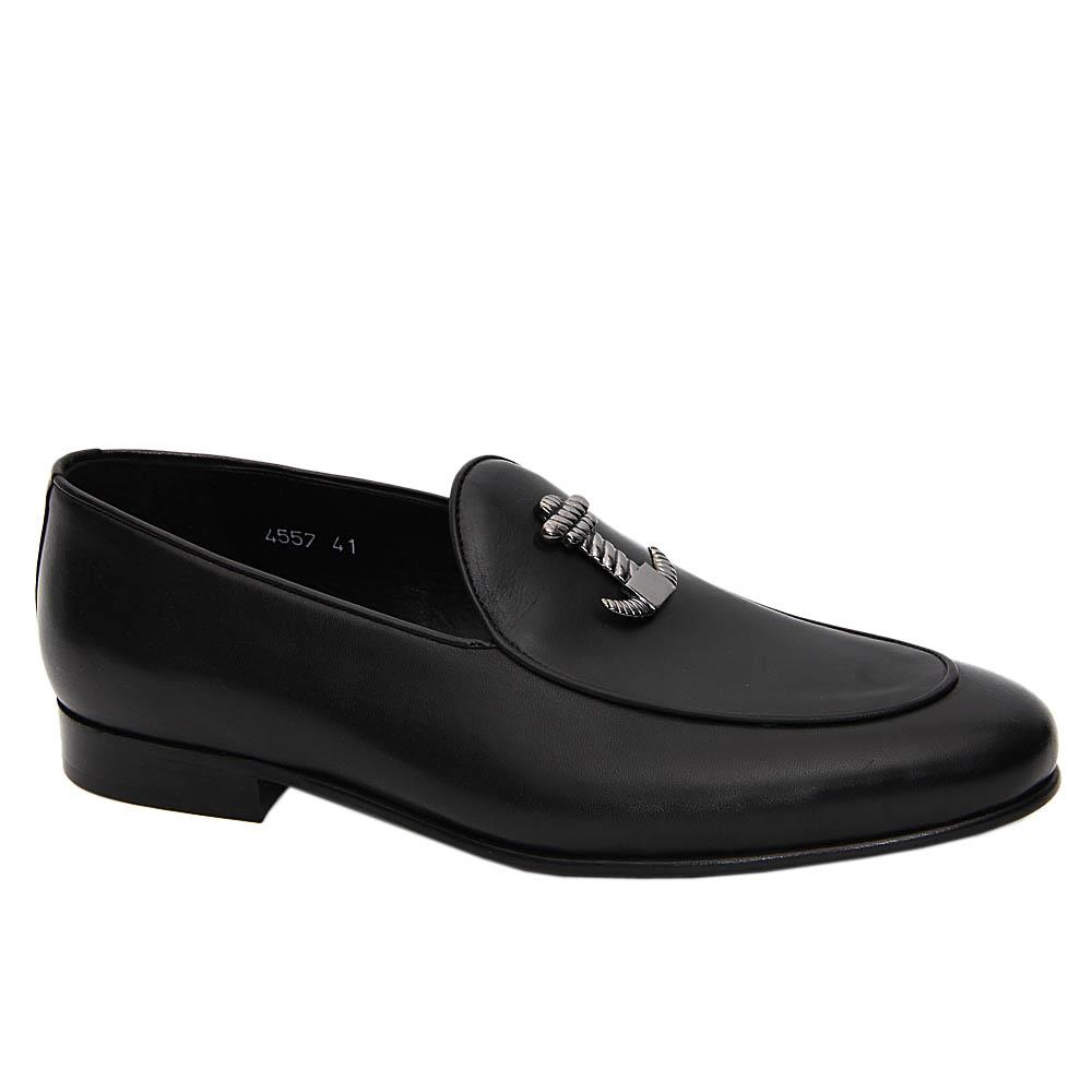 Black Vincenzo Italian Leather Loafers